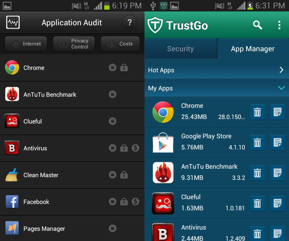 app manager and privacy guard