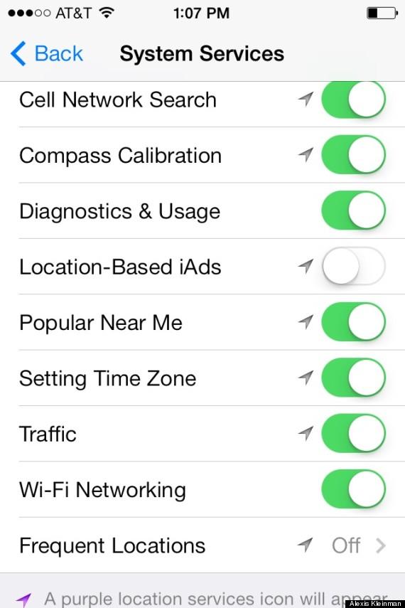 ios7 location services