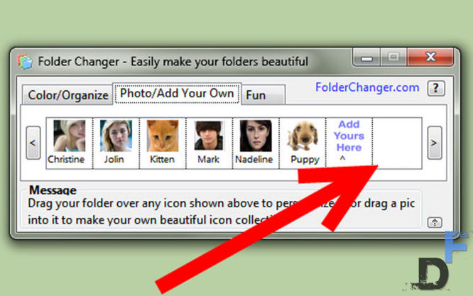 select image and drap and drop in the application