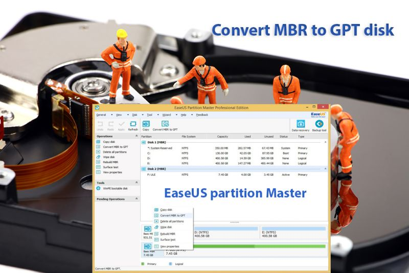 mbr to gpt easeus partition master