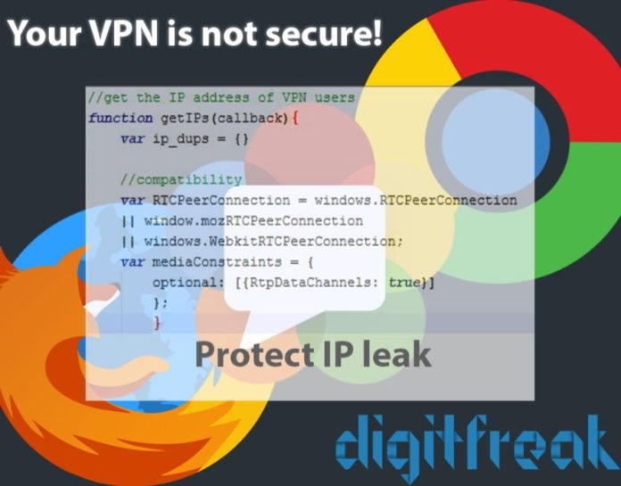 vpn webrtc ip leak fix