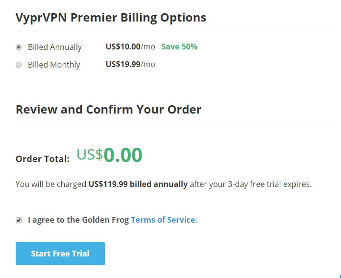 vyprvpn premier test account registration