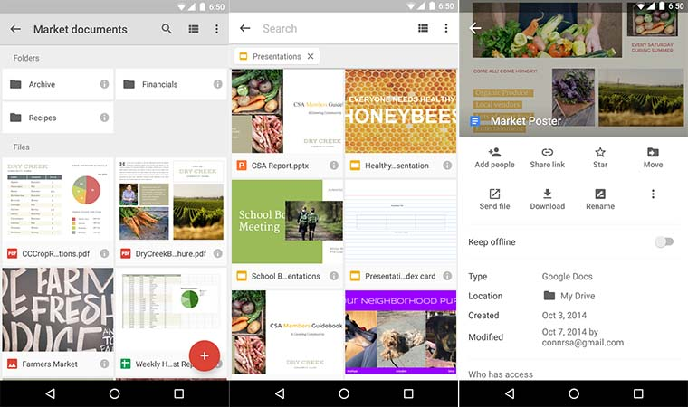 google drive wide android ios 2016