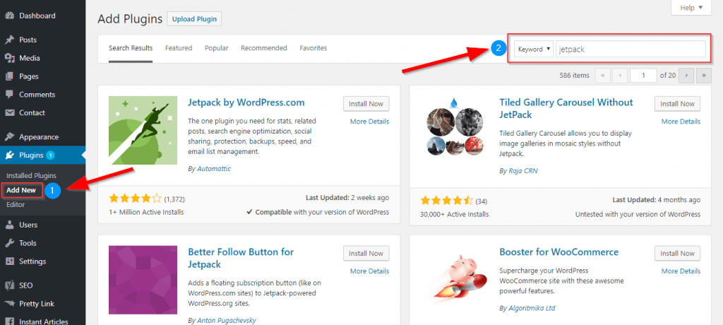 how to install wordpress plugin from dashboard online directory search backend